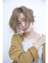 バルーンヘアー(BALLOON HAIR)パーマ×Shortボブ【パーソナルカラーワンサイドタンバルモリ】
