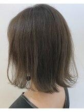 グッデイ ヘアー(GOOD DAY HAIR)【GOOD DAY HAIR】《ワンレンロブ:グレージュ:ハイライト》