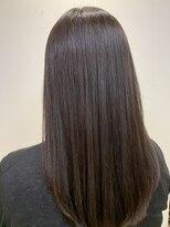 リゾーム デ リアン(Rhizome des liens)艶髪ストレートスタイル/大人かわいい小顔ココアブラウン