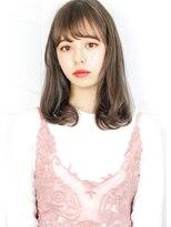 ヘアサロンガリカアオヤマ(hair salon Gallica aoyama)☆『 ミルクティーカラー & 毛束感 』切りっぱなしボブ☆