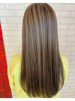 ビス ヘア アンド ビューティー 西新井店(Vis Hair&Beauty)ハイライト/ナチュラル/バレイヤージュ/ストレート/大人かわいい