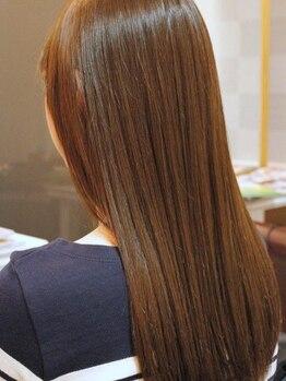 """ノベルバイティナ(Novel by Tina)の写真/【川崎駅チカ☆】""""サイエンスアクア""""の髪質改善で、なめらか質感の艶髪に♪パサつきやクセもケア!"""