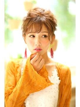 ヘアセットサロンシャルメ 梅田店(Hair Make Salon CHARMER)カジュアルな洋服にも似合うおだんごアップ