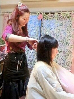 ヘアサロン 美髪(mikami)の写真/【マンツーマン】【プライベート】【女性専用】【隠れ家サロン】信頼できるオーナースタイリストが担当♪