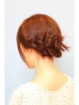 ブランフィル (BLANCfIL)三つ編みまとめ髪
