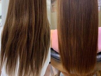 スマートカラー キレイ イズミヤ学園前店(Kirei)の写真/[根元¥3540/全体¥4570]繰り返しのカラーで傷んだ髪や,エイジング毛のお悩みに◎髪質改善<ソヴァールカラー>