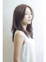 アミィヘアー(Ami Hair)柔らかストレート×ベージュ