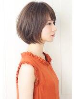 【rue京都】大人かわいい小顔☆ナチュラル丸みショートボブ☆