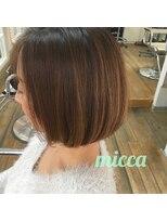 ミッカ(micca)【micca下北沢】大人可愛いハイライト☆ナチュラルボブ耳かけ◎
