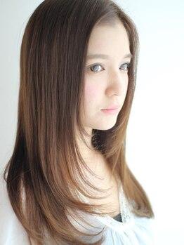 クライブ ヘアー 千葉中央店(CRiB hair)の写真/『エアーストレート』で驚くほど自然な仕上がりに☆髪のお悩みを解決し、手触り&艶感抜群のストレートへ♪