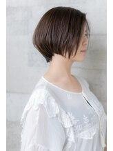 アッシュ ヘアーメイク 桐生(ash hair×make)20代30代40代/大人かわいい/前下がり/ひし形/ナチュラルボブ