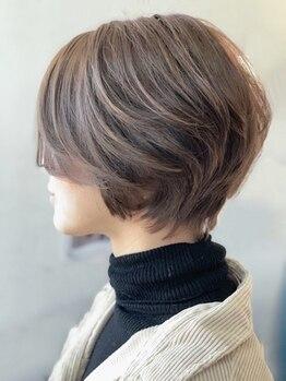 ゴット(Gotto)の写真/ショートヘア~ミディアムヘアの無造作外ハネスタイルが旬!技術が高いスタイリストが揃うGottoです♪