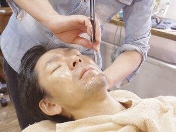 ラボーテイサミヘアーイースト(La.beaut'e ISAMI HAIR EAST)の写真/【シェービングもお任せ☆】理容室の顔そりでリラックス&リフレッシュ♪眉毛も整えます!(東浦和/理容室)
