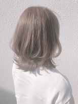 ヘアーサロン リアン 熊谷2号店(hair salon Rien)ふんわりレイヤーカット×ハイライトカーキグレー