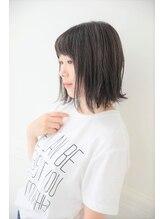 レディエント 阪神甲子園店(radiant)暗髪アッシュ切りっぱなしボブ