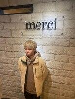 メルシー(merci)【merci古河店】束感ハイトーンマッシュ