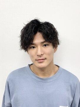 アブアイロス(LOSS)【stylist/shogo】ツイストスパイラルパーマ/刈り上げマッシュ