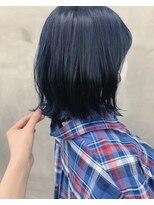 *【SUN】1ブリーチ!ネイビーブルーカラー 蜂谷咲季