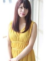 【Creo】果実系ラズベリーカラー×艶髪ロング#大人かわいい#前髪