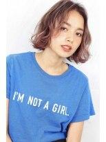 ヘアサロン ガリカ 表参道(hair salon Gallica)☆ 『 ベリー × グレージュ 』外国人風 小顔BOB♪ ☆