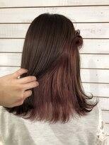 ビーヘアサロン(Beee hair salon)【渋谷エクステ・カラーBeee/安部 郁美】インナーカラーピンク