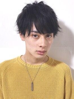 アイニコ(ainico)の写真/【men'sカット+パーマ¥7900】シンプルな中にカッコよさをプラス。男性特有の悩みも汲み取ったデザインに!