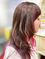 アルファ インタラクティブ エム フラワー(ALUFA interactive.M Flower)大人可愛い!つや髪×インナーカラー×斜めバング