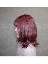 ルルス(RULUS)Aline mid Bob × Pink Ash Purple inner G.