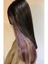 【インナーカラー】隠せるお洒落カラー♪髪の内側からさりげなく見える色味が特徴☆