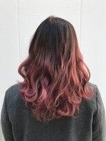 ポッシュ 原宿店(HAIR&MAKE POSH)ピンクグラデーション 派手カラー