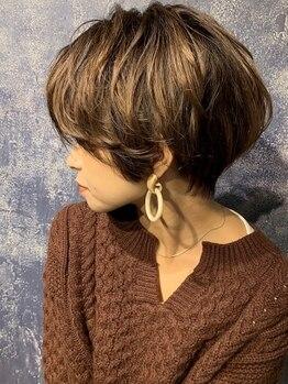 オプスヘアーアネロ(OPS HAIR ANELLO)の写真/ショートヘアはバランスが命!骨格・髪質・クセを見極めたカットで「最高の似合わせ」を叶えます!