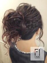 ヘアーメイクアンドネイル エフプラス(hairmake&nail F PLUS)【F PLUS!-エフプラス-】編み込みサイドアップ
