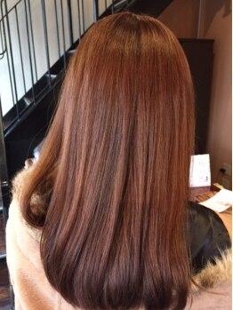 ヘアメイク ルポ(Hair make Repos)の写真/ヘアケアのプロだからできる!ケアを同時に行い、発色・モチの良さも叶う♪季節に合わせた髪色にチェンジ☆