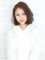 小顔無造作カール/ハーブカラー/抜け感/20代30代40代50代