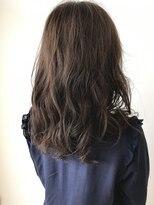 フレイムスヘアデザイン(FRAMES hair design)揺らぎラフウェーブ×グレージュベージュ×重軽セミロング
