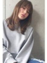アレーン ヘアデザイン(Alaine hair design)キャメルベージュ×シンプルミディ