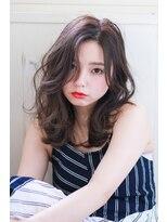 イロドリ ヘアーデザイン(IRODORI hair design)IRODORI センターパートのゆるふわセミロング2 [西尾一寛]