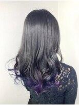 ソース ヘア アトリエ 京橋(Source hair atelier)【SOURCE】裾カラーヴァイオレット