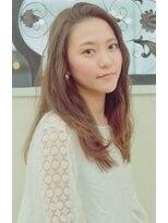 ネオヘアー 京成曳舟店(NEO Hair)かきあげセミロング☆ベージュアッシュ