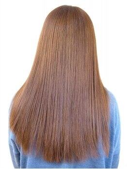 ヘア アンド メイク リーフ(Hair and Make Leaf)の写真/「カット+縮毛+Tr¥8000」◆ツヤ髪ストレートをKeepするならLeafの縮毛♪アイロンいらずで決まるのが嬉しい!