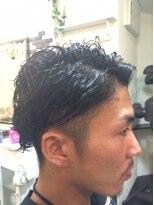 アップスタイル(アップヘア)の黒髪!ワイルド2ブロックショート!!画像