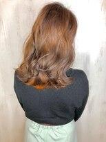ソース ヘア アトリエ 京橋(Source hair atelier)【SOURCE】インナーカラーオレンジ