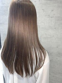 レザボア ヘアーアンドビューティー ハイブ店(reservoir Hair&Beauty Haibe)の写真/自然なのに、しっかりサラツヤ真っ直ぐに★今までにないほどのやわらかストレートはレザボアにお任せ!!