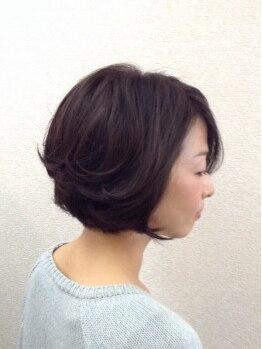 アルコバレーノ(Arcobaleno)の写真/【リタッチ白髪染めカラー+プレTR☆¥3996】髪と地肌にも優しいコラーゲン配合で、手触りもツルツル♪
