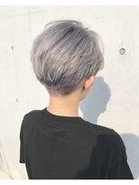 Lien☆ホワイトグレー×刈り上げ×デザインカラー