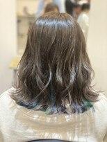 ボブ (Hair salon BOB)blue×purple×greenでインナーカラー