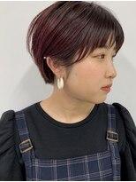 フィル(fil)耳掛けマッシュショート/ピンク