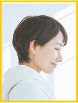 【美髪/艶髪/小顔効果】髪に優しい縮毛矯正+ショートカット