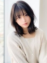 《Agu hair》モテ前髪×くびれロブ