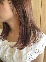 耳の近くだけをピンクに*インナーカラー*イヤリングカラー